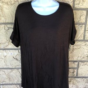 Brown Tunic Top Azules Boutique Flow Oversize